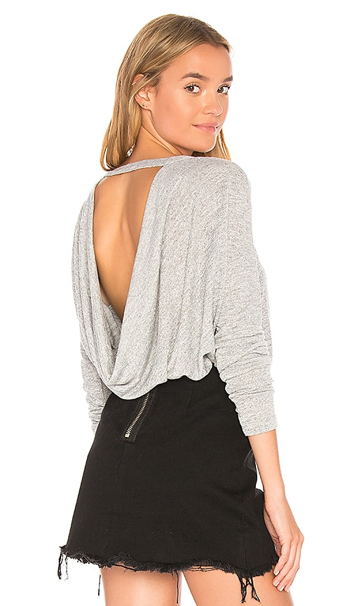 Bobi Open Back Sweater in Gray