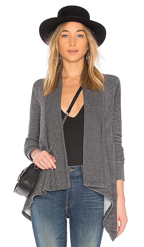 Bobi Summit Heather Cardigan in Black & White