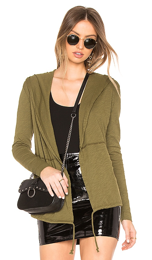 Bobi Jersey Cardigan in Army