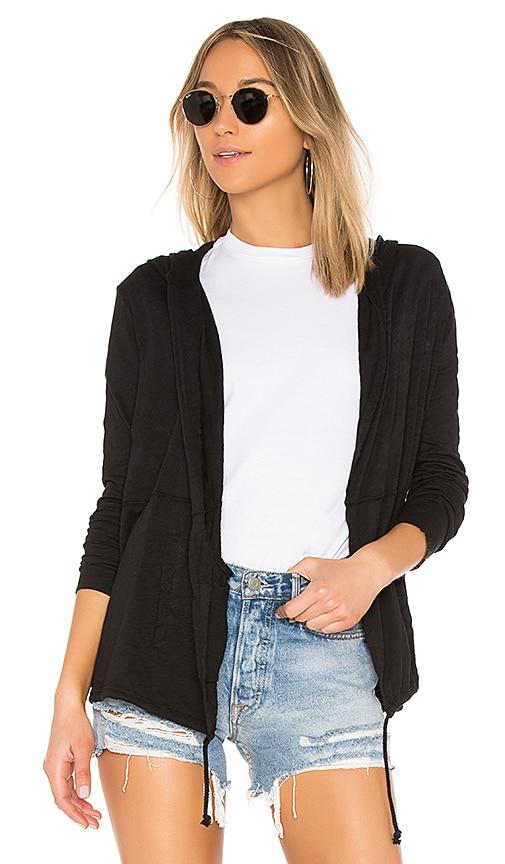 Bobi Jersey Cardigan in Black