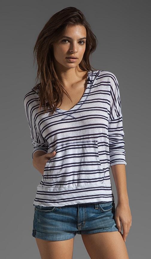 Linen Stripe Hoodie