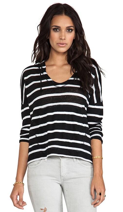 Linen Stripe Sweatshirt