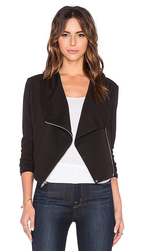 Bobi BLACK Knit Boucle Blazer in Black