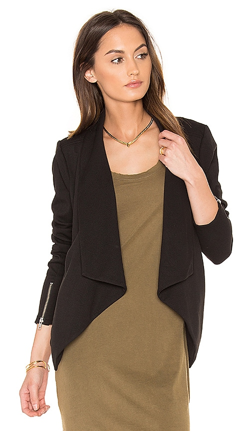 Bobi BLACK Boucle Moto Blazer in Black