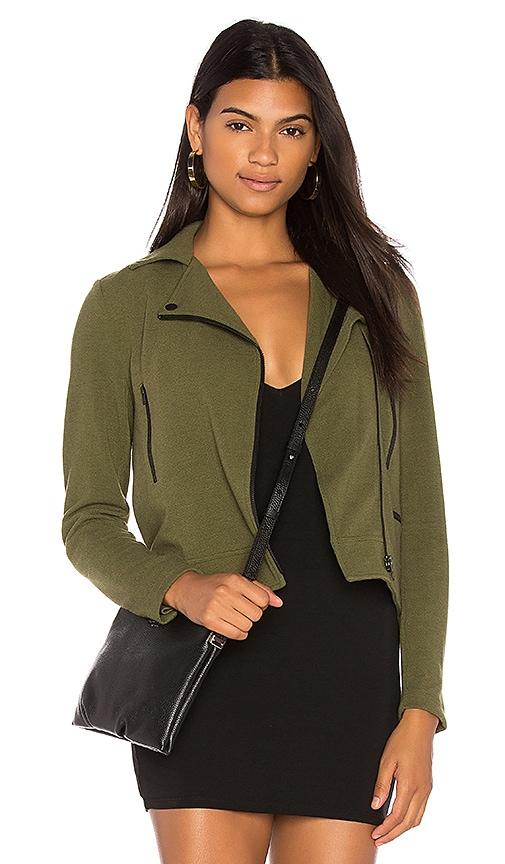 Bobi BLACK Knit Moto Jacket in Army