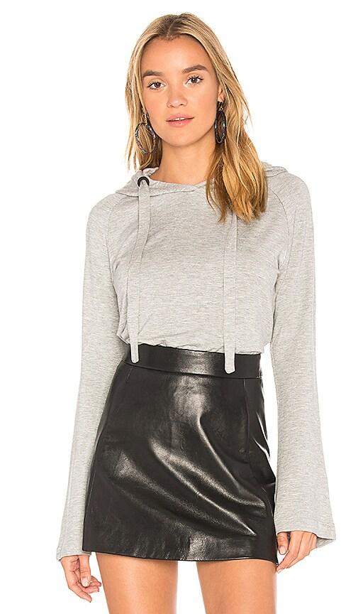 Bobi Bell Sleeve Sweater in Gray