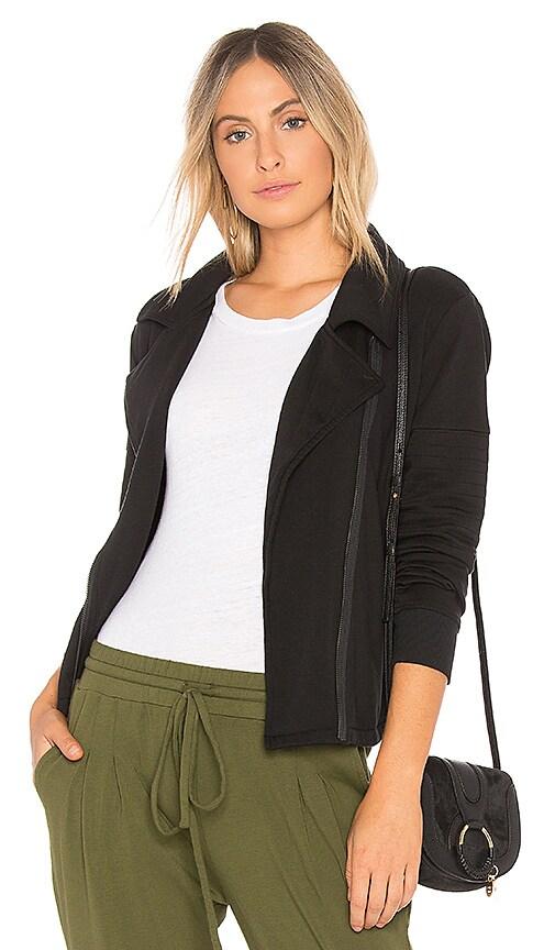 Bobi Plush Terry Moto Jacket in Black