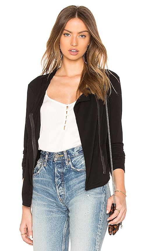 Bobi Terry Moto Jacket in Black