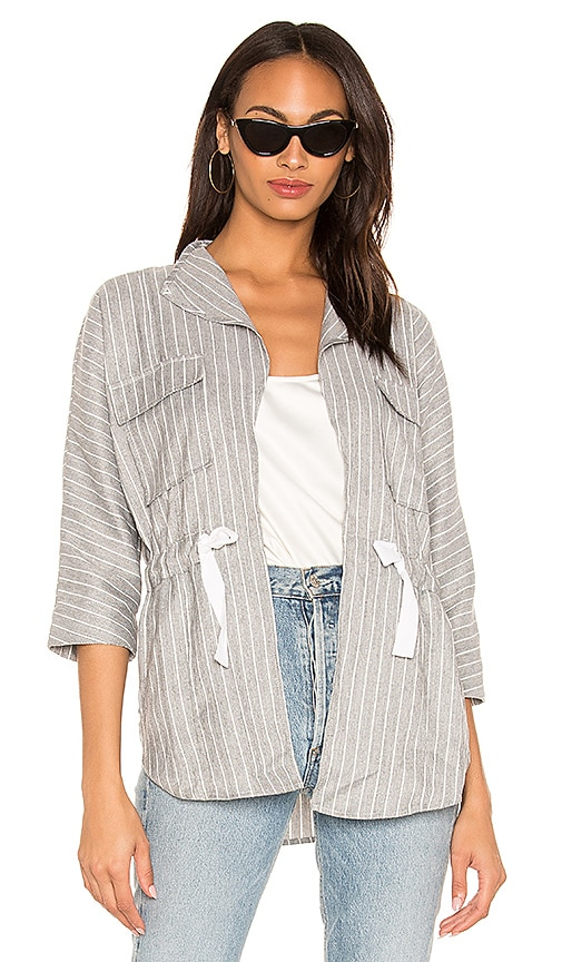 BLACK Cruise Stripe Lightweight Jacket