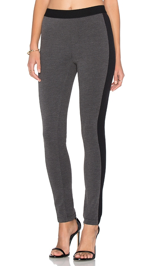 Bobi Stretch Twill Pant in Charcoal & Black