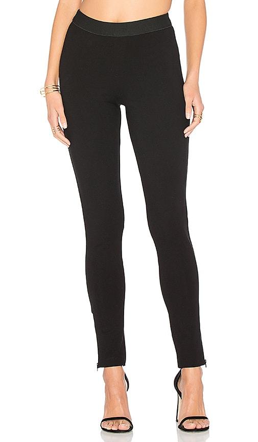 Bobi Rayon Ponte Zip Legging in Black