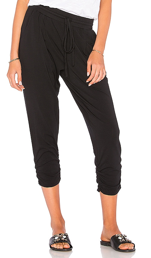 Bobi Draped Jogger in Blue