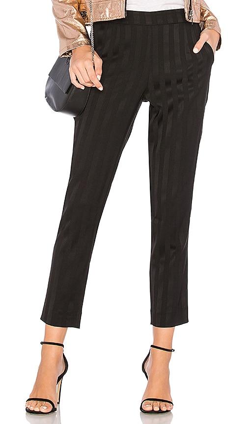 Bobi BLACK Shadow Stripe Pant in Black