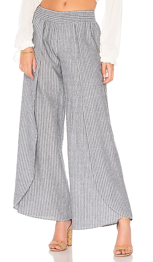 Bobi Seaside Stripe Pant in Black