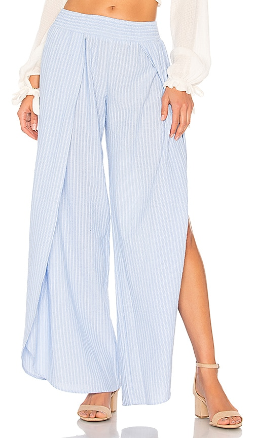 Bobi Seaside Stripe Pant in Baby Blue