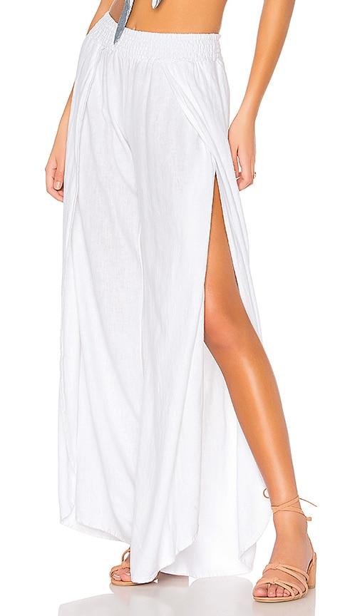 Bobi Seaside Linen Pants in White