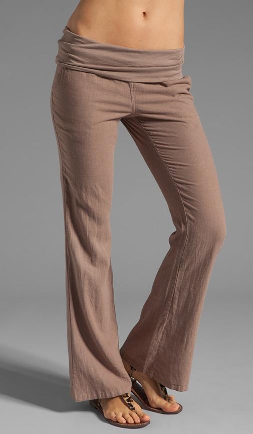 Linen Foldover Pant