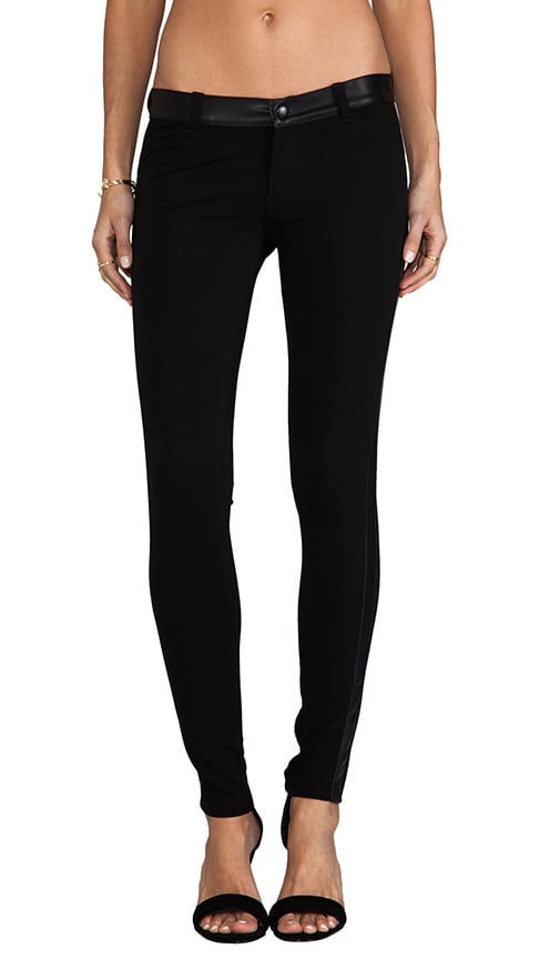 Legging with Leather Detail