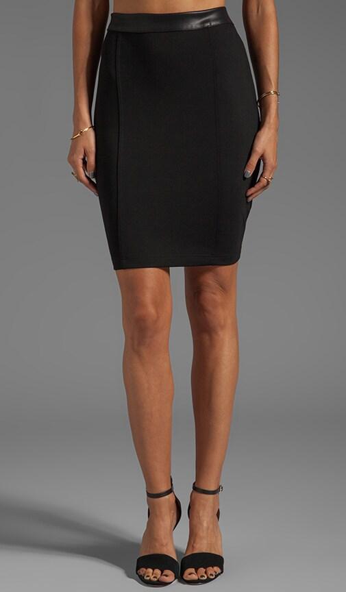 Mini Skirt with Leather Waistband