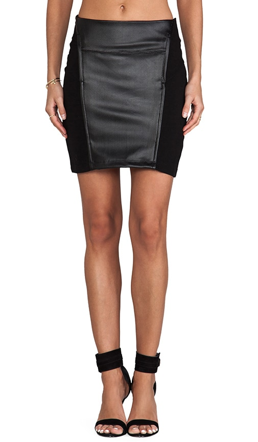 Skirt with Leather
