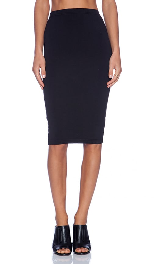 Bobi Spandex Pencil Skirt in Black