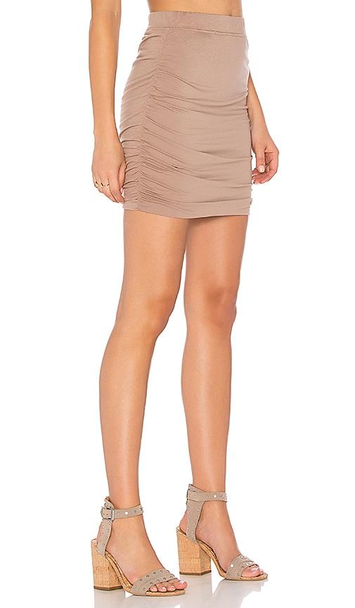 Bobi Modal Jersey Mini Skirt in Brown