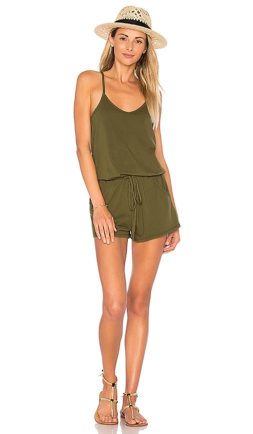 Bobi Supreme Jersey Romper in Green