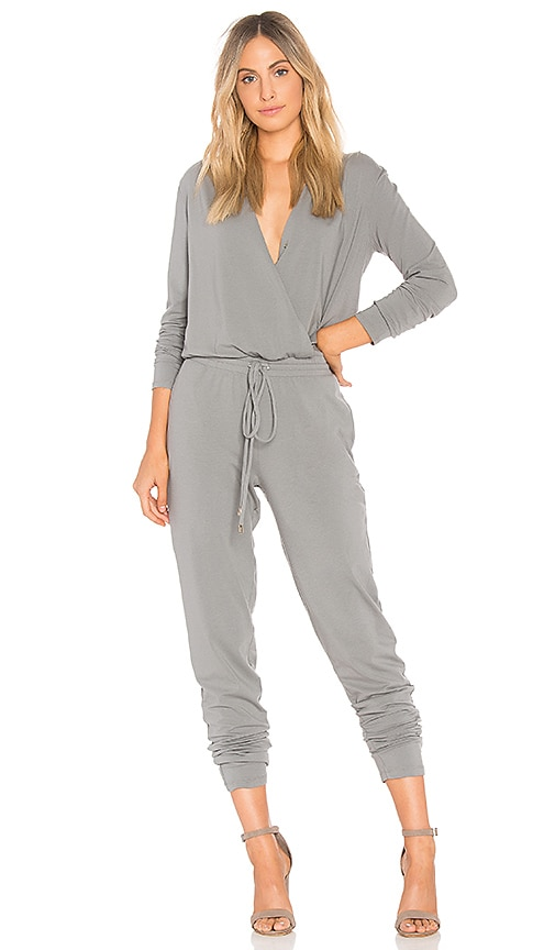 74fb3562295 Bobi Drape Modal Jumpsuit in Fog