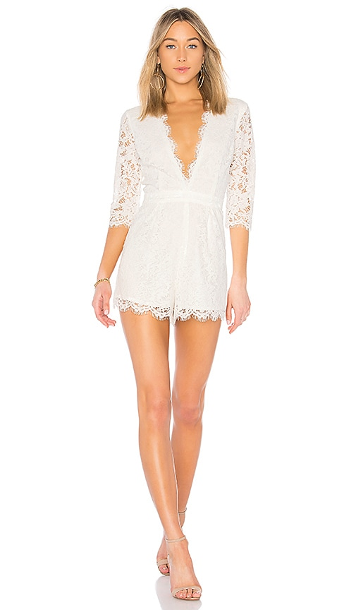 Bobi BLACK Botanical Romper in White