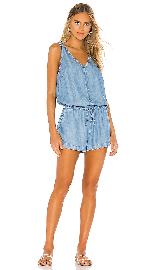 BLACK Chambray Romper
