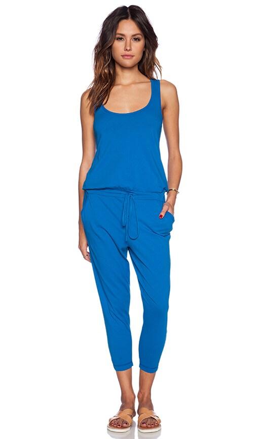 Bobi Supreme Jersey Jumpsuit In Azure Revolve
