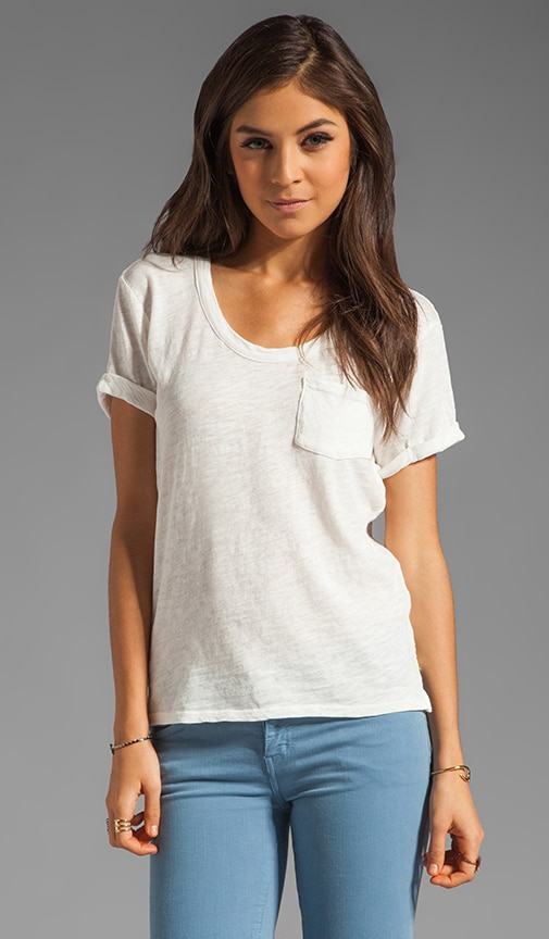 Cotton Slub Pocket Tee