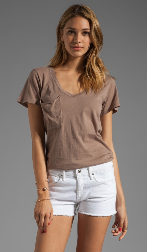 Lightweight Jersey Short Sleeve Deep V