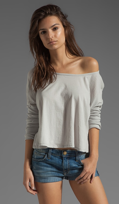 Lightweight Jersey Long Sleeve Scoop Neck
