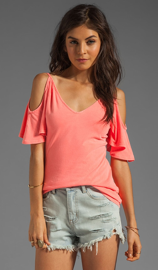 Lightweight Jersey Cold Shoulder Top