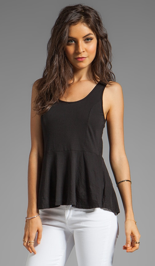 Light Weight Jersey Peplum Tank