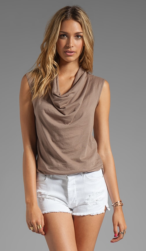 Light Weight Jersey Cowl Tank