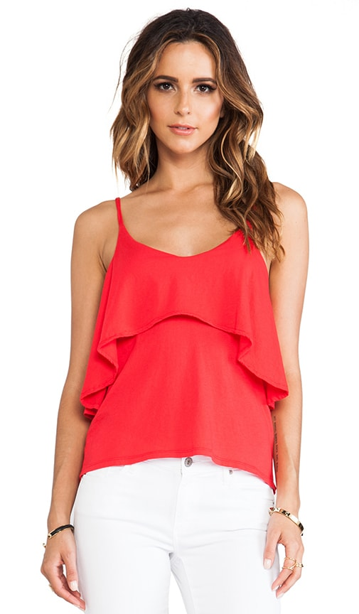 Light Weight Jersey Ruffle Tank