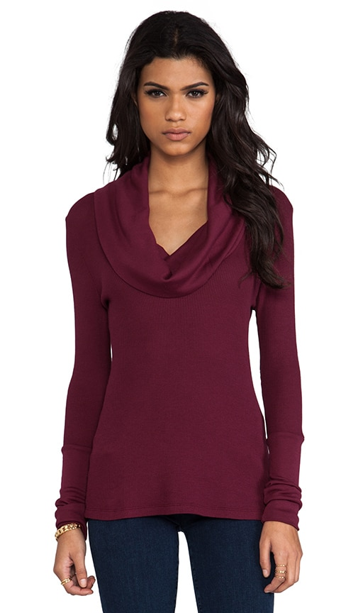 Thermal Cowl Neck Top