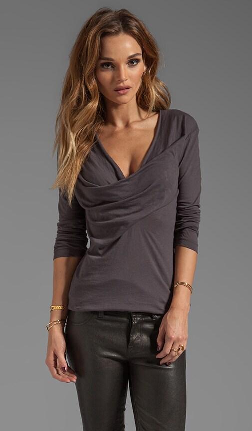 Light Weight Jersey Long Sleeve Cowl Neck Top