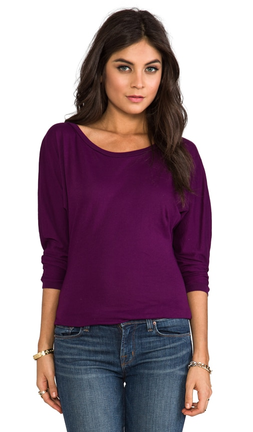 Light Weight Jersey Boatneck Top