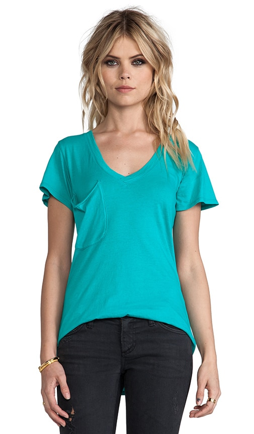 Light Weight Jersey V Neck Pocket Tee
