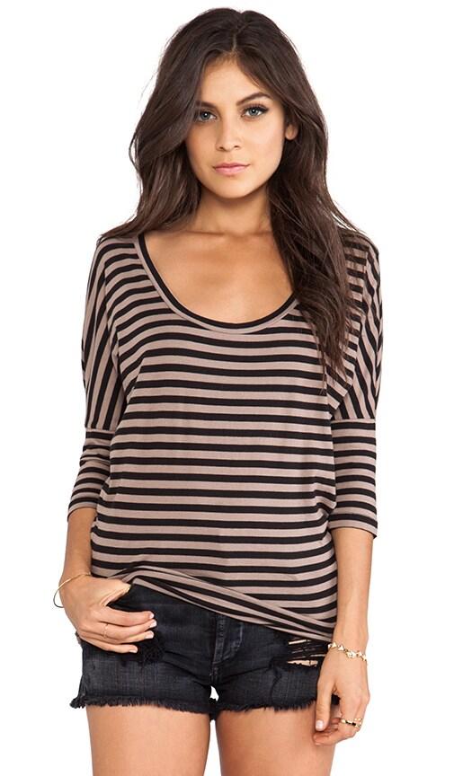 Light Weight Jersey Stripe Dolman Top