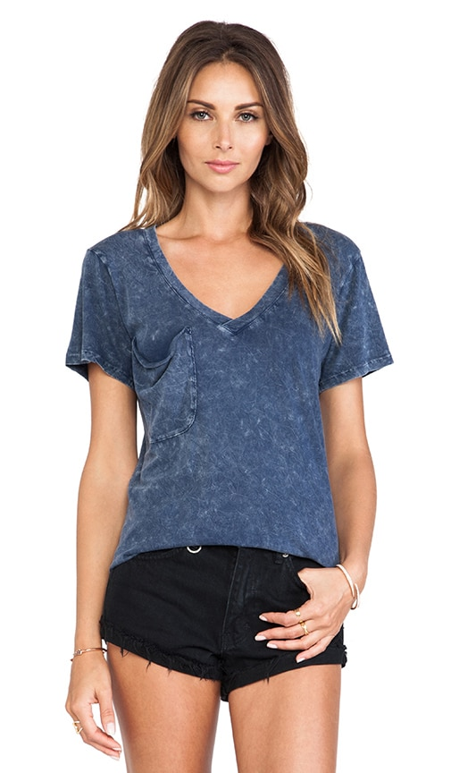 Denim Wash Jersey Pocket Tee