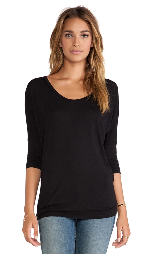 Slub Dolman Long Sleeve Tee