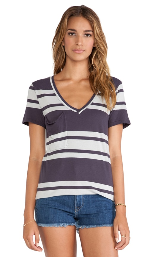 Light Weight Jersey Striped Pocket Tee
