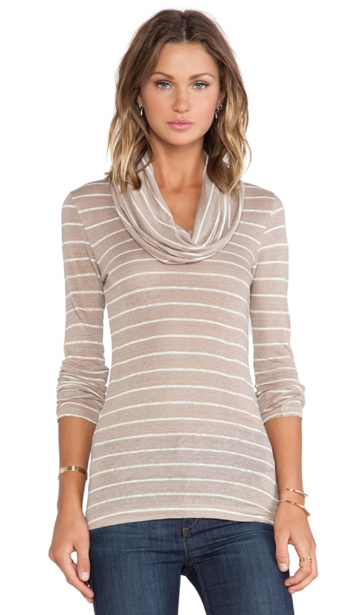 Long Sleeve Cowl Neck Tee