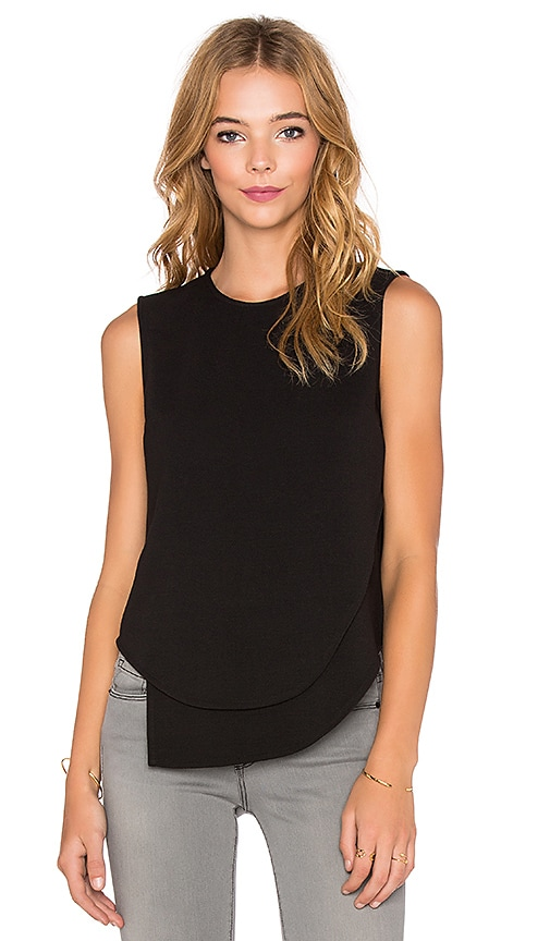 Bobi BLACK Knit Boucle Tank in Black