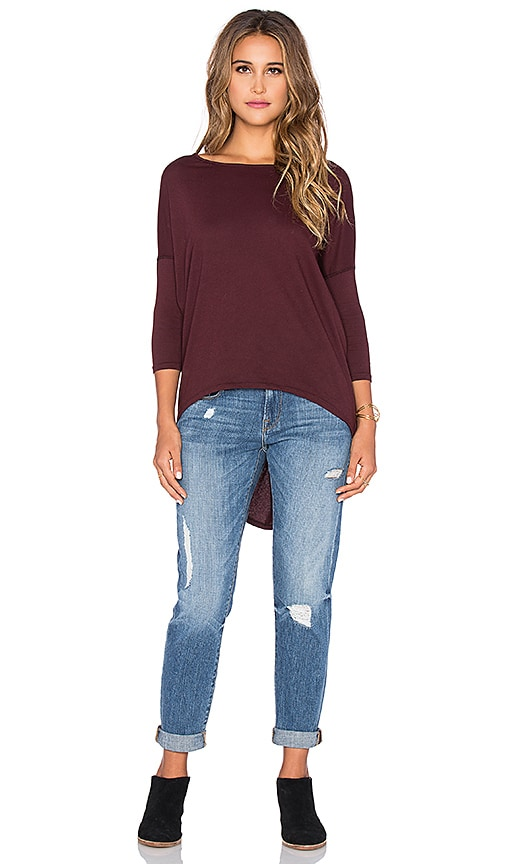 Light Weight Jersey 3/4 Sleeve Dolman