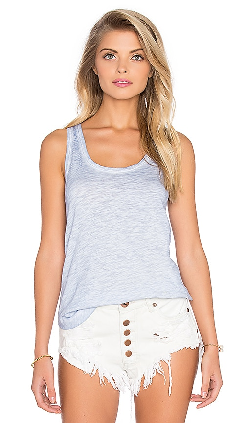 Bobi Cold Water Washed Slubbed Jersey Swing Tank in Uniblu